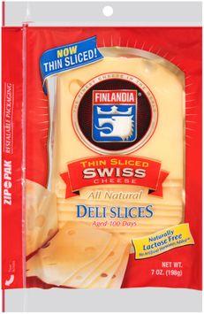 Finlandia® Natural Thin Sliced Swiss Cheese Deli Slices