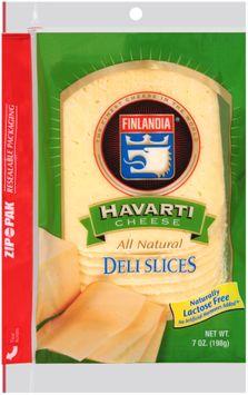 Finlandia® Natural Deli Slices Havarti Cheese Deli Slices