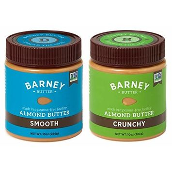 Barney Butter Almond Butter Smooth and Crunchy - 10 Oz (Pack of 2)