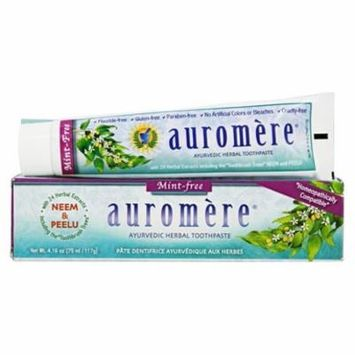 Ayurvedic Herbal Toothpaste Mint-Free - 4.16 oz. by Auromere (pack of 3)