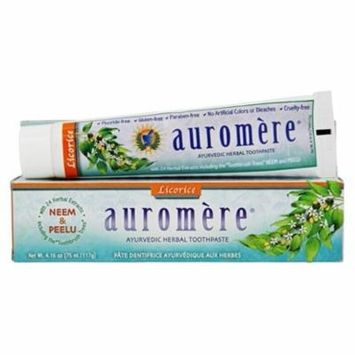 Ayurvedic Herbal Toothpaste Licorice - 4.16 oz. by Auromere (pack of 6)