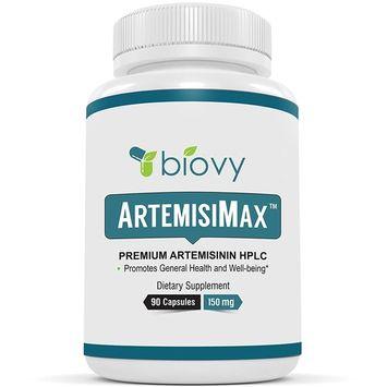 Artemisinin HPLC Standardized to 98 Percent - Non-GMO, Vegan, and Gluten Free - 90 Veggie Capsules 150 milligrams - Pure Sweet Wormwood Extract - Chinese Worm Wood - Sweet Annie Herb