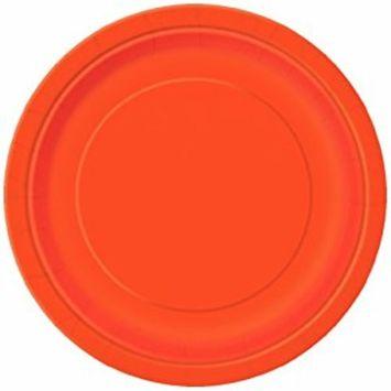 Orange Paper Cake Plates, 8ct