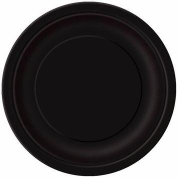 Black Paper Cake Plates, 20ct