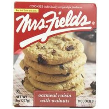 Mrs.fields, Cookies, Oatmeal Raisin (Pack of 14)