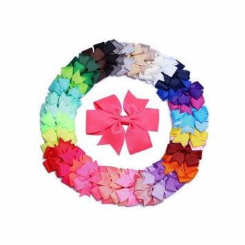 Baby Girls Hair Clip, Coxeer Cute Bowknot Hairpin Alligator Clips Mulicolor Hair Accessories 40-Pack