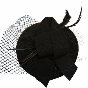 Feather Hair Clip, Coxeer Fascinators Cocktail Netting Pillbox Hats Hair Accessories for Women