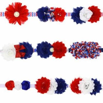 Coxeer 9Pcs Head Wraps Sunflower Rose Pattern Hair Ties Hair Bands for Baby Girls