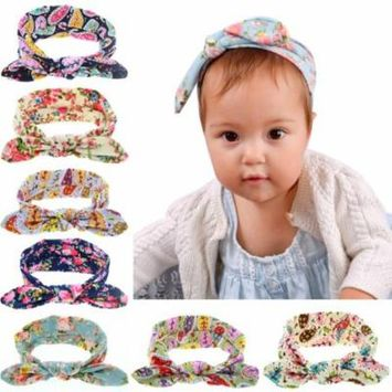 10PCS Elastic Bow Baby Girls Headband Floral Baby Hair Wrap Hair Band for Infants