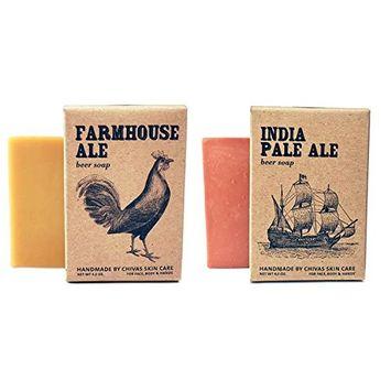 Chivas Goat Milk Skin Care Beer Soap, 2-Piece Bar Soap Gift Set