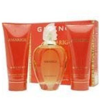 AMARIGE by Givenchy Gift Set for WOMEN: EDT SPRAY 3.4 OZ & BODY LOTION 2.5 OZ & BATH GEL 2.5 OZ (TRAVEL OFFER)