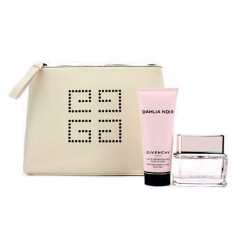 Givenchy Dahlia Noir Coffret: Eau De Toilette Spray 50ml/1.7oz + Body Milk 100ml/3.3oz + Pouch 2pcs+1pouch