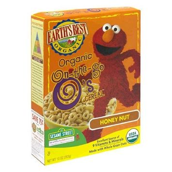 Earth's Best Sesame Street Organic O's Cereal, Honey Nut, 10-Ounce Units (Pack of 6)