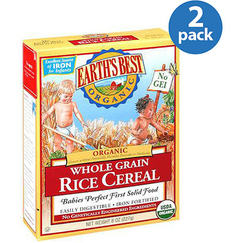 Earth's Best Organic Whole Grain Rice Cereal