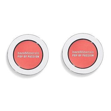bareMinerals Pop of Passion Blush - Petal Passion Set of 2 (2g/.07 oz) & Make-up Bag