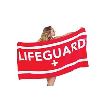 Officially Licensed Lifeguard Beach Towel Large Lightweight - Ideal for Beach, Pool, Outdoors and Camping