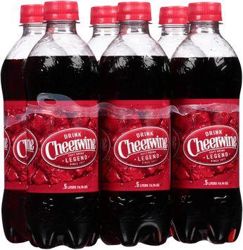 Cheerwine Cherry Soft Drink 6-0.5L Bottles