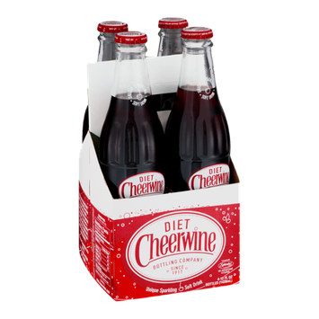 Cheerwine Diet Unique Sparking Soft Drink - 4 CT