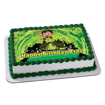 Ben 10 Quarter Sheet Edible Photo Birthday Cake Topper. ~ Personalized! 1/4 Sheet