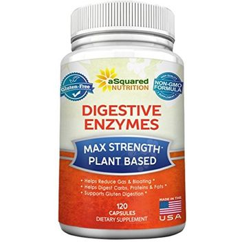 Digestive Enzymes Supplement (120 Capsules) Best Digestive Cleanse w/ Amylase Bromelain Lipase & Lactase - Proteolytic Enzyme Pills for Digestion, Bloating, Gas, Break Protein Fat Carbs & Gluten