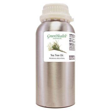 Greenhealth Tea Tree – 32 fl oz (946 ml) Aluminum Bottle w/Plug Cap – 100% Pure Essential Oil