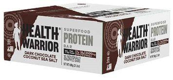 Health Warrior Superfood Protein Bar Dark Chocolate Coconut Sea Salt - 12 Bars