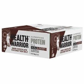 Health Warrior Superfood Protein Bar Dark Chocolate Coconut Sea Salt -- 12 Bars pack of 4