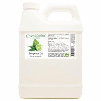 Bergamot Essential Oil - 32 fl oz (946 ml) Plastic Jug w/ Cap - 100% Pure Essential Oil by GreenHealth