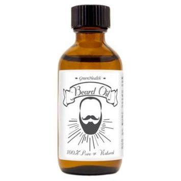 Beard Oil - 2 fl oz Amber Glass- Ready-to-Use - 100% Pure Essential Oil Blends- Pre-Diluted by Greenhealth