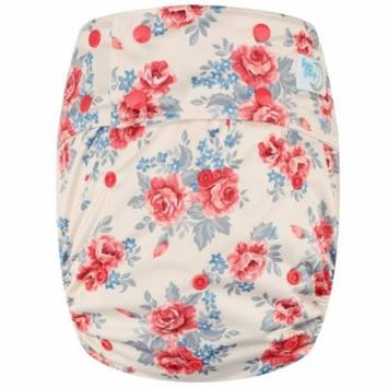 Happy Endings Teen / Adult Reusable Incontinence Cloth Diaper (Roses)