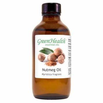 Nutmeg Essential Oil - 4 fl oz (118 ml) Glass Bottle w/ Cap - 100% Pure Essential Oil by GreenHealth