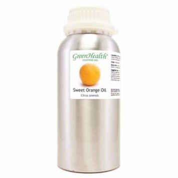 GreenHealth Sweet Orange - 16 fl oz (473 ml) Aluminum Bottle w/Plug Cap - 100% Pure Essential Oil
