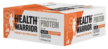 Health Warrior Chia Protein Bar Peanut Butter Cacao - 12 Bars pack of 2