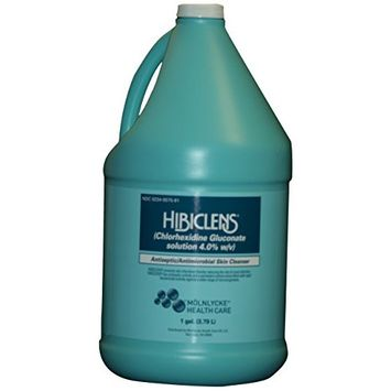 Hibiclens Antimicrobial/Antiseptic Skin Cleanser, 1 Gallon Bottle (Pack of 4), for Antimicrobial Skin Cleansing