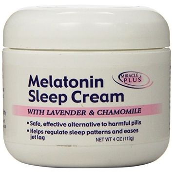Miracle Plus Melatonin Sleep Cream, 4 Ounce
