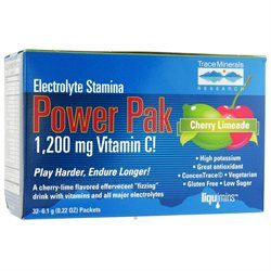Trace Minerals Research - Electrolyte Stamina Power Pak Cherry Limeade - 32 Packets