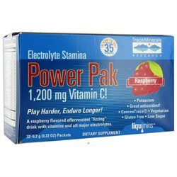 Trace Minerals Research - Electrolyte Stamina Power Pak Raspberry - 32 Packets