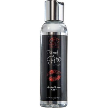 Kingman Industries Kiss of Fire Warming Massage Lotion, 4.5 fl. oz (133 mL), Apple Licious
