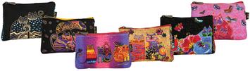 Laurel Burch Cosmetic Bag Zipper Top