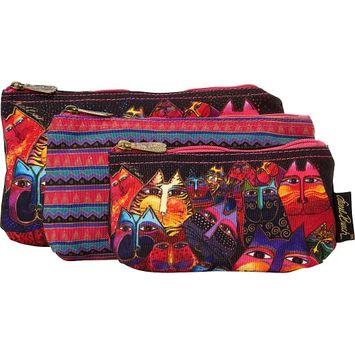 Laurel Burch LB5331 Cosmetic Bag Set Of Three-Fantasticats