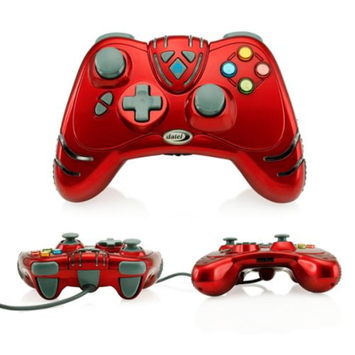 Limited Edition Datel Rapid Fire Wildfire 2 Wired USB Game Pad Ruby Red Controller for Microsoft Xbox 360 Bulk Packaging