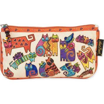 Laurel Burch White Karlys Kats Three-In-One Cosmetic Bag Set