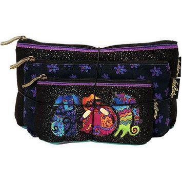 Laurel Burch LB5335 Cosmetic Bag Set Of Three-Dog & Doggies