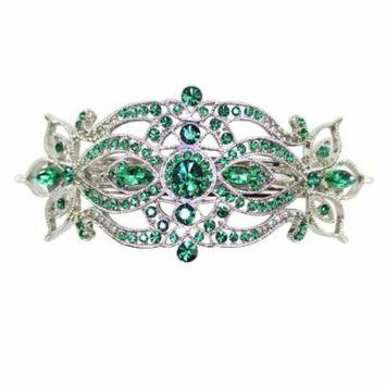 Faship Emerald Color Green Big Hair Barrette