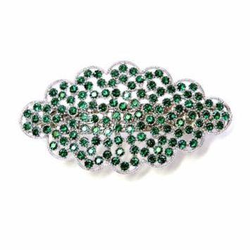 Faship Gorgeous Green Floral Hair Barrette Clip