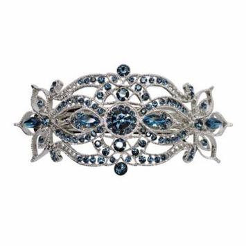Faship Gorgeous Navy Blue Crystal Big Hair Barrette
