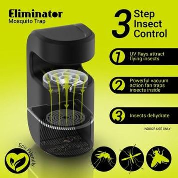 Plug-In Mosquito & Fly Trap by Eliminator with UV Light Attractor & Fan