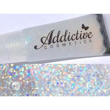 Glitter Lip Gloss CONFETTI Lip Junkie- Thick and Rich- Non Sticky Vegan Friendly and Cruelty Free Formula- Made in the USA