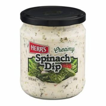 Herr's Creamy Spinach Dip 15 oz Glass Jars - Pack of 12
