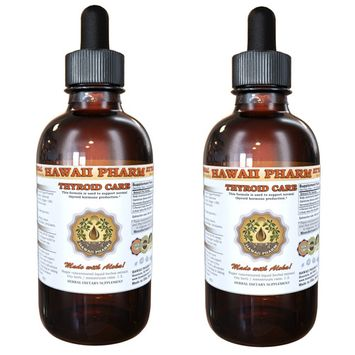 Thyroid Care Tincture, Kelp (Laminaria Hyperborea) Dried Whole Plant, Oatstraw (Avena Sativa) Dried Stem and Leaf, Horsetail (Equisetum Arvense) Dried Herb Liquid Extract, Herbal Supplement 2x2 oz